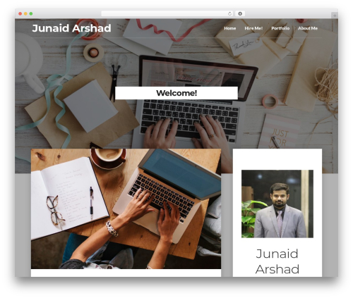 Writer Blog WordPress theme design - junaidarshad.net