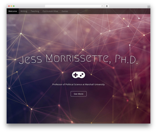 Arcade Basic premium WordPress theme - jessmorrissette.net