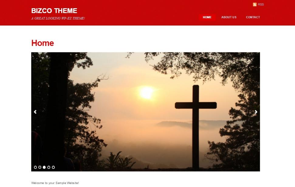 Bizco WordPress website template