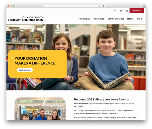 Charity WPL WordPress theme - jocolibraryfoundation.org