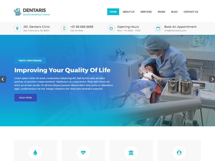 Dentaris Pro medical WordPress theme