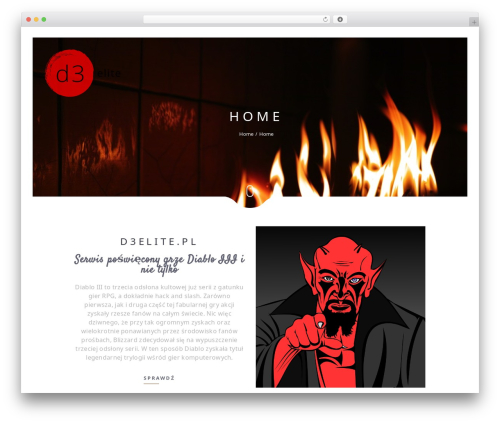 Narcos WordPress page template - d3elite.pl