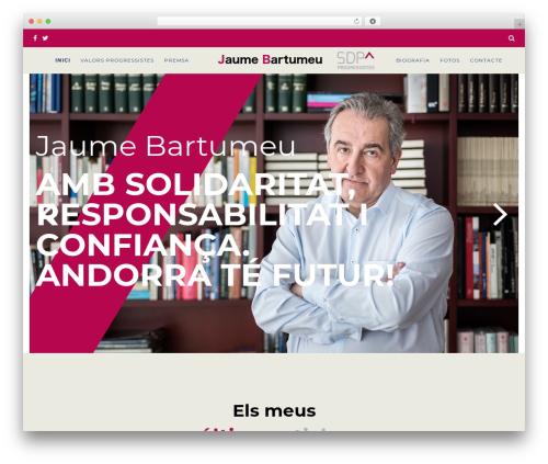 Politist WordPress page template - jaumebartumeu.ad