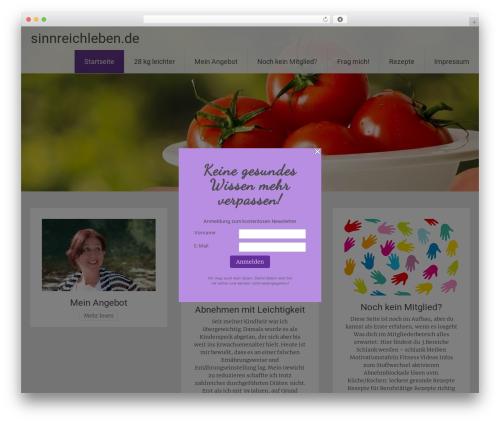 Radiate WordPress template - sinnreichleben.de