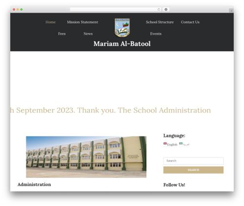 UNISCO WordPress template free download - mariamalbatool.com