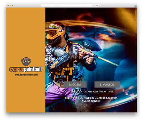 Adrenaline PT WordPress theme - paintballcyprus.com