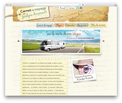 BLANK Theme template WordPress - jocelynearsenault.com