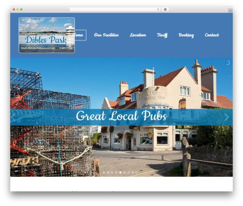 Bridge WordPress website template - diblespark.co.uk