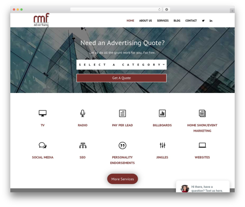 Divi best WordPress template - rmfadvertising.com