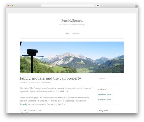 WordPress theme Penscratch - peteholberton.com