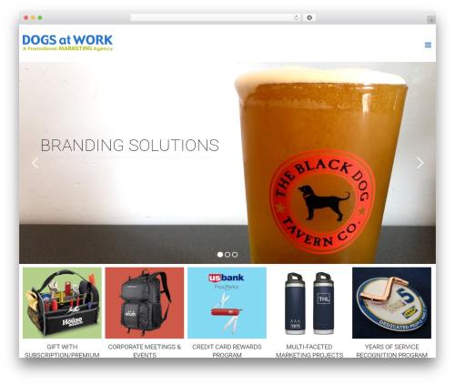 Avada company WordPress theme - dogsatwork.com