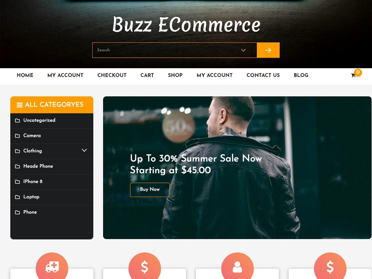 Buzz Ecommerce WordPress shop theme