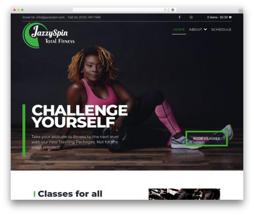Gym Express Pro gym WordPress theme - jazzyspin.com