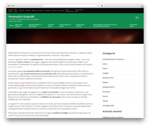 VegasHero Sports Betting Theme template WordPress - pronosticigratuiti.com