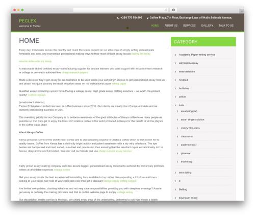 WordPress template SKT Coffee - peclex.com