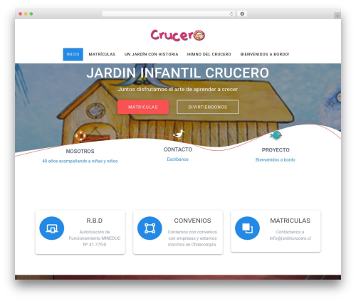 WordPress theme Materialis - jardincrucero.cl