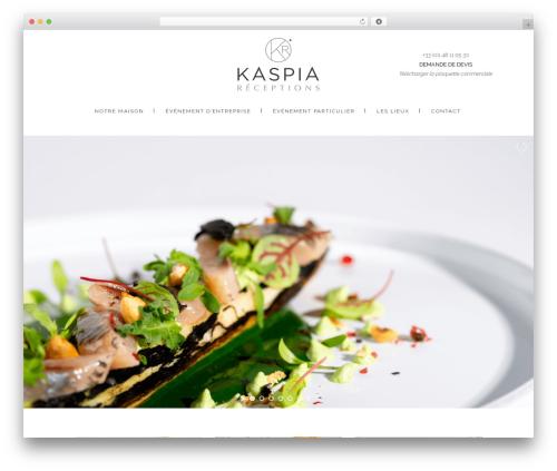 WordPress theme Stockholm - kaspia-receptions.com