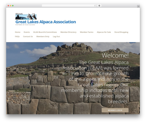 WordPress website template Ascension - greatlakesalpaca.com
