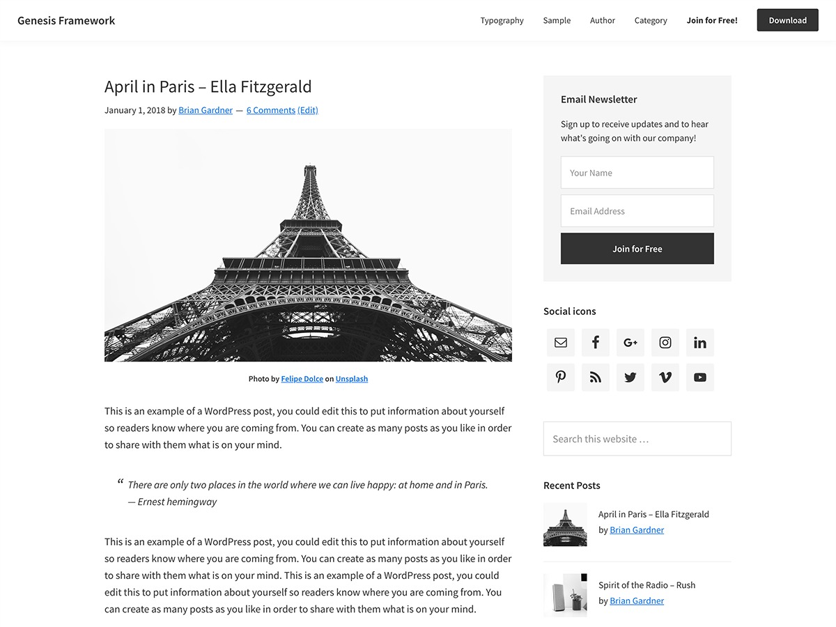 WP template 100 Year Lifestyle Affiliate