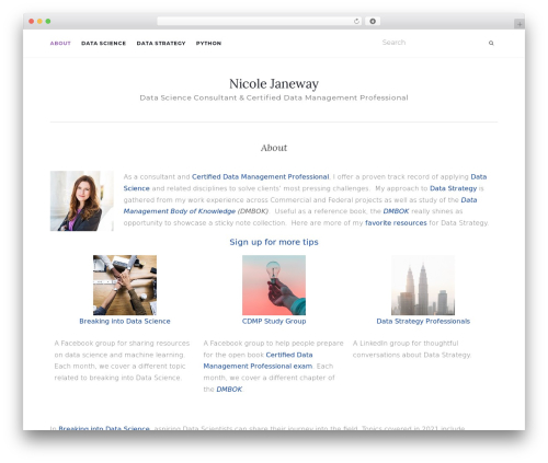 Activello template WordPress - nicolejaneway.com