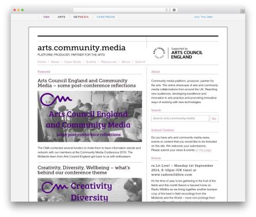 ARTS top WordPress theme - arts.commedia.org.uk