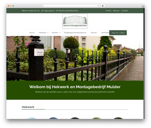 Betheme WordPress page template - mulderhekwerk.nl