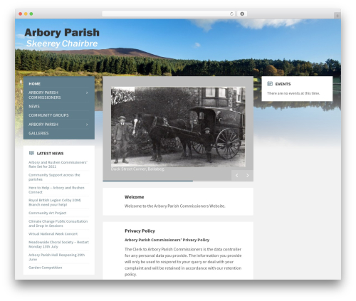 TownPress WordPress theme - arbory.org