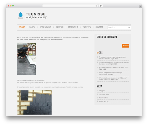 WordPress theme Hannari - loodgietersbedrijfteunisse.nl