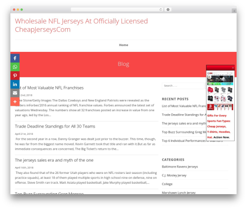Best WordPress theme SmartShop - cheapjerseyscom.com