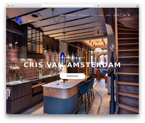 Mies WordPress theme - crisvanamsterdam.nl