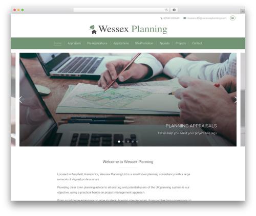 The7 WordPress website template - wessexplanning.com