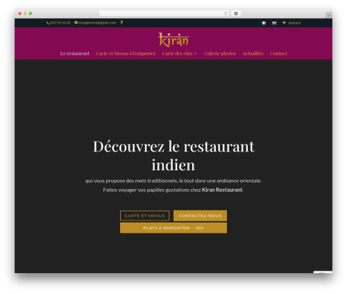 WordPress theme Divi - kiran-geneve.com