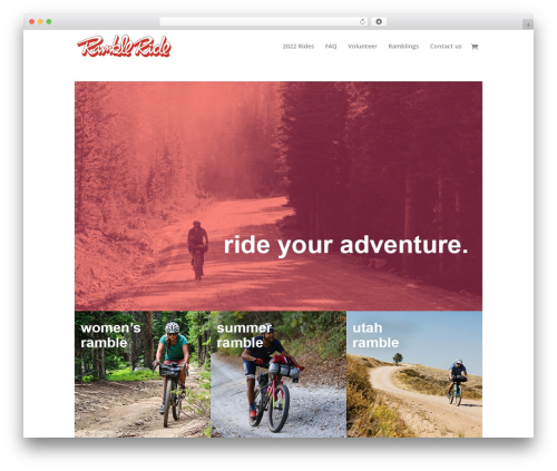 WordPress theme Divi - ramblerides.com
