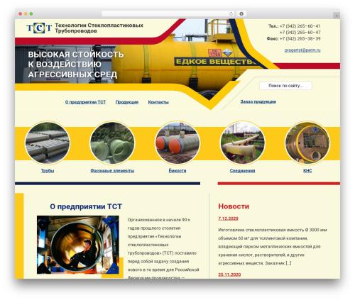 Best WordPress template TST - tst-perm.ru