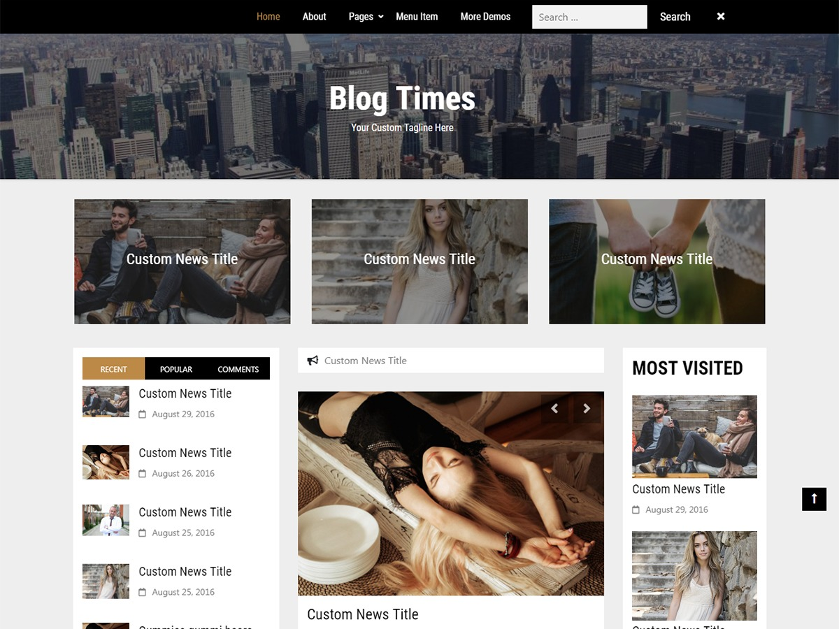 Blog Times WordPress blog theme