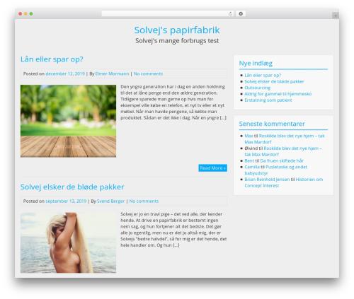 BlueGray free WordPress theme - paperlinxscandinavia.dk