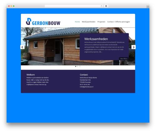 Chameleon WordPress theme - gerbonbouw.nl