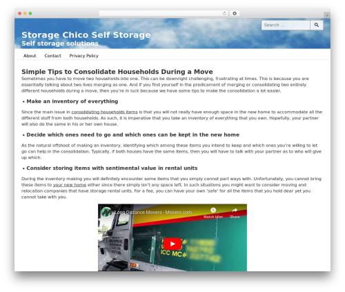 Fepper theme WordPress free - storagechico.com