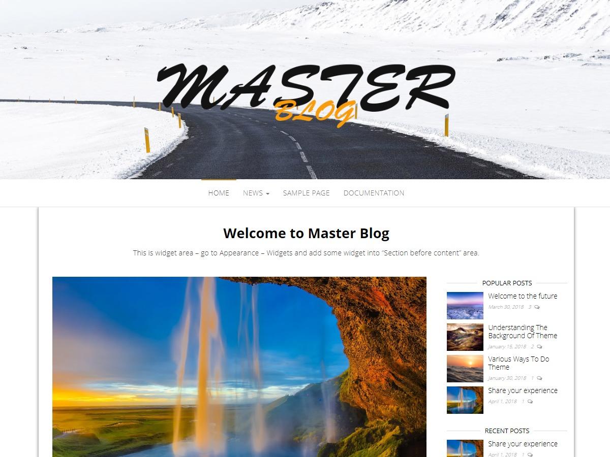 Master Blog WordPress blog template