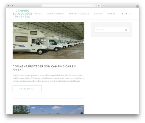 Best WordPress theme TheMotion Lite - camping-ecologique-pyrenees.com