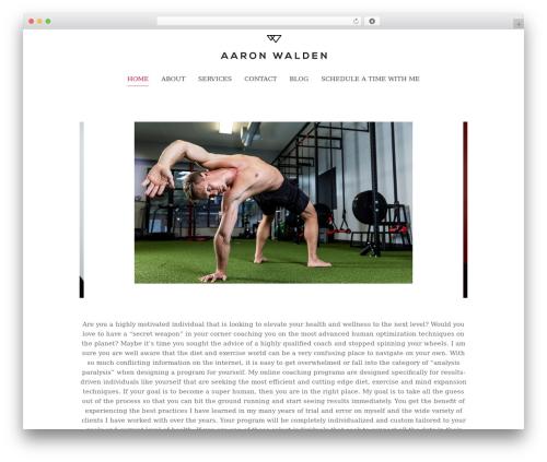 Chester WordPress template - aaronwalden.org
