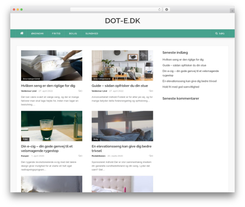 Codilight WordPress page template - dot-e.dk