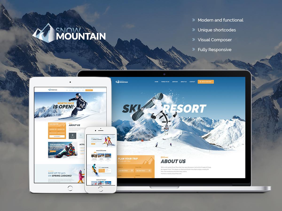 SnowMountain WordPress blog theme