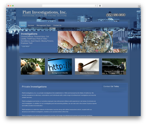 Zephyr best WordPress theme - plattinvestigations.com