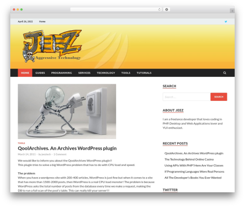 HitMag best free WordPress theme - jeez.eu
