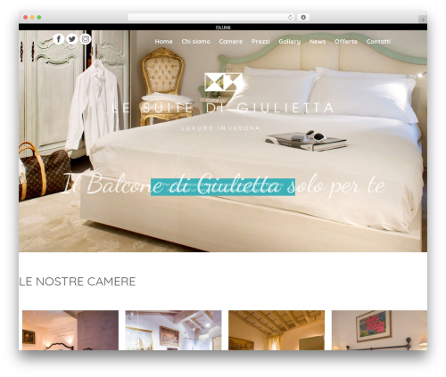 Suite WordPress website template - suitedigiulietta.it