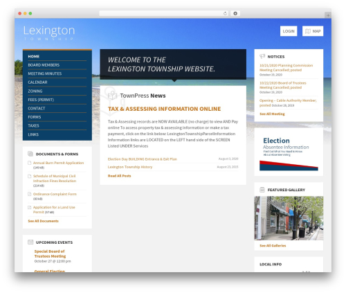 TownPress WordPress template - lexingtontownship.org
