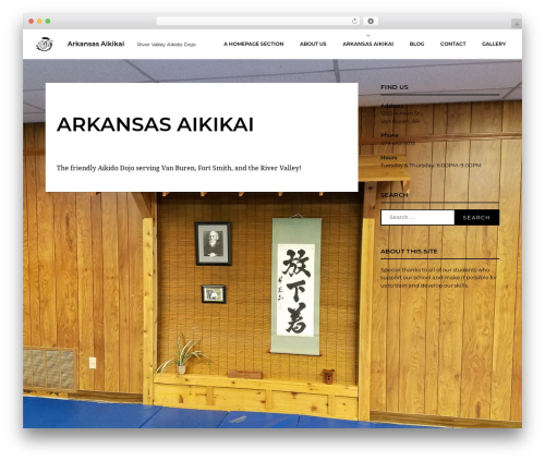 WordPress theme Calibration - arkansasaikikai.com
