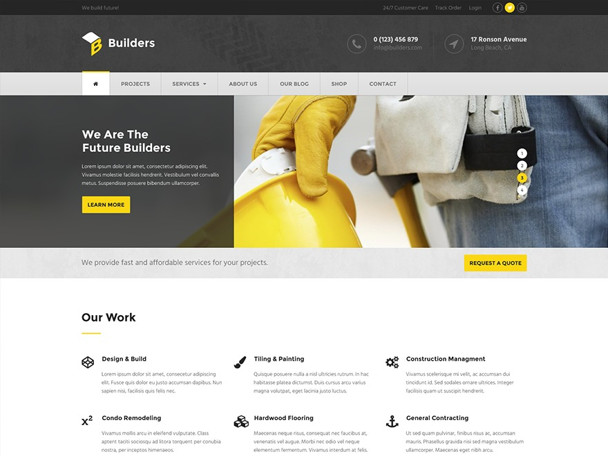 Builders by MyThemeShop WordPress blog template