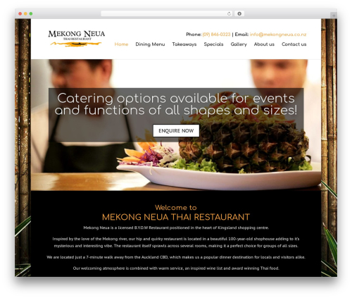 Divi WordPress restaurant theme - mekongneua.co.nz